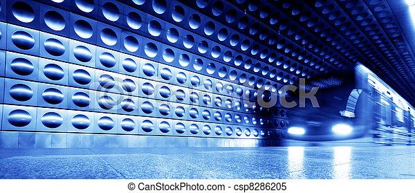 metro, ruch, pociąg, dynamiczny - csp8286205