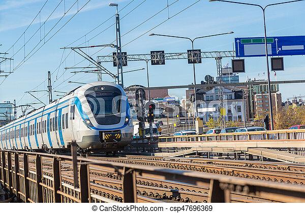 Metro train in Stockholm - csp47696369