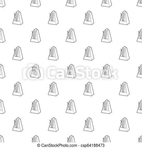 Metronome icon, outline style - csp64188473