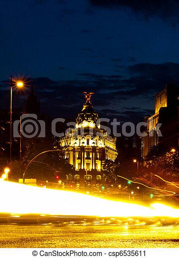 Metropolis Building in Gran Via, Madrid - csp6535611