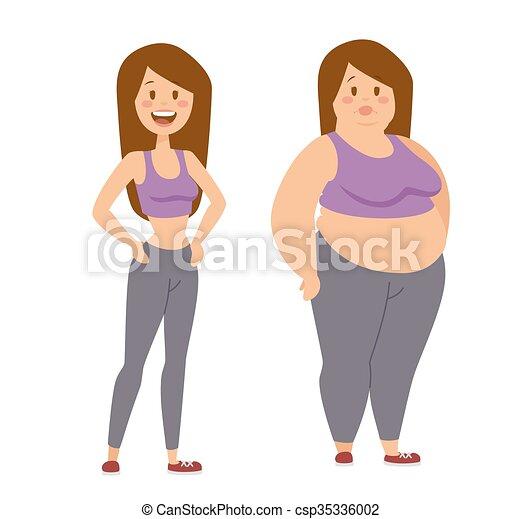Mettere dieta donna persone carattere grasso ragazza magro