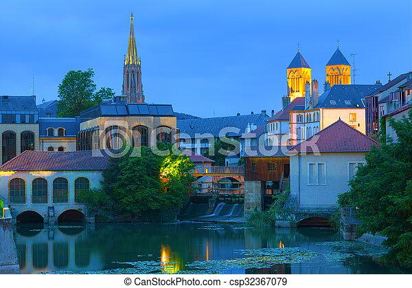 Metz at a summer night - csp32367079