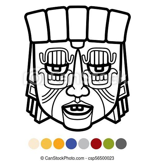 Mexicain Tribal Aztèque Masque Indien Africaine