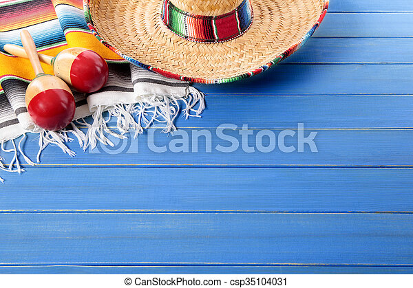 Mexican background with copyspace - csp35104031