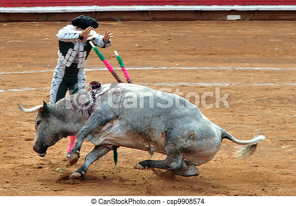 Mexican Bull-fight  - csp9908574