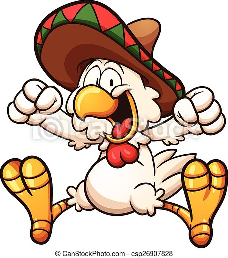 Mexican Chicken Vector Clipart Eps Images 1063 Mexican Chicken