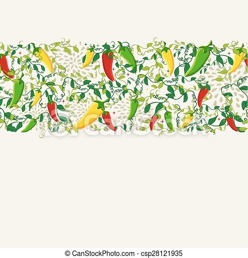 Mexican chili pepper pattern design - csp28121935