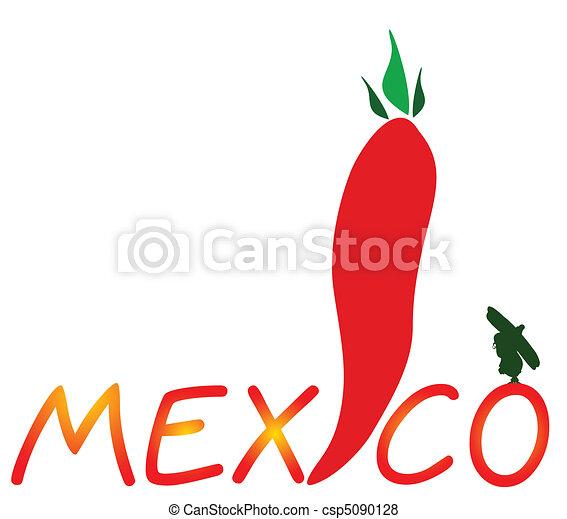 mexican chili pepper vector illustr - csp5090128
