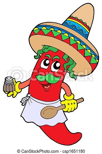 Mexican chilli chef - csp1651180