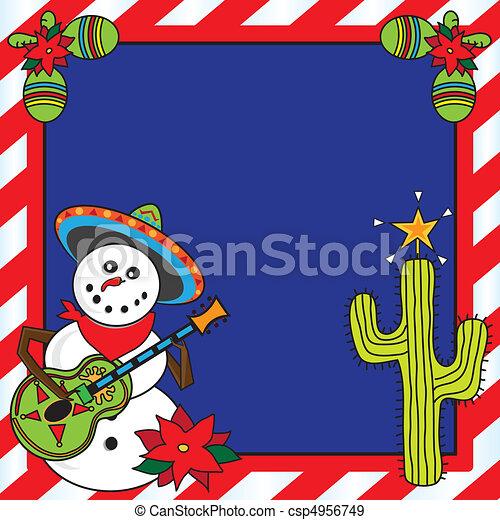 Mexican Christmas Card - csp4956749