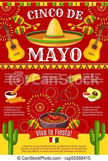 Mexican cinco de mayo vector holiday fiesta poster cinco de mayo mexican cinco de mayo vector holiday fiesta poster m4hsunfo