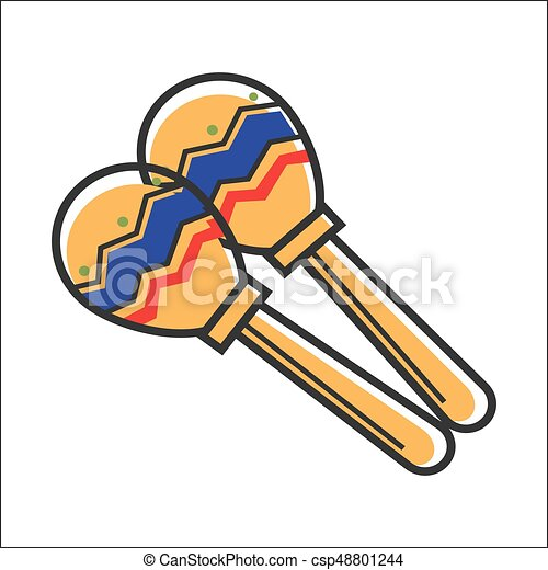 mexican colorful maracas closeup vector graphic poster eps rh canstockphoto com