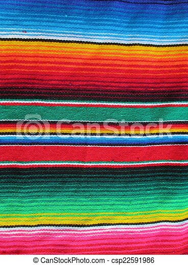 mexican fiesta cinco de mayo serape poncho background fiesta - csp22591986