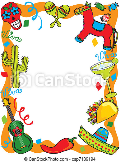 Mexican Fiesta Party Invitation - csp7139194
