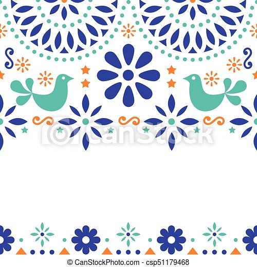 Mexican folk art vector greeting card retro wedding or clip art mexican folk art vector greeting card retro wedding or party invitation with modern twist stopboris Image collections