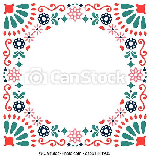 Mexican folk vector greeting card wedding or party vector mexican folk vector greeting card wedding or party invitation decoration floral and abstract stopboris Images