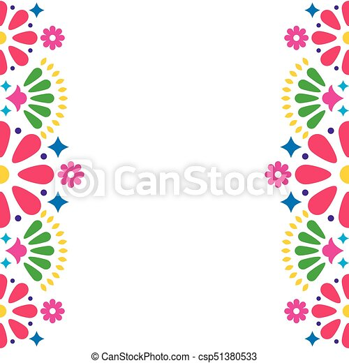 Mexican folk vector wedding or party invitation greeting card mexican folk vector wedding or party invitation greeting card colorful frame design with flowers stopboris Image collections