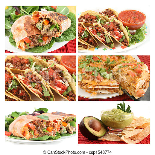 mexican food collage - csp1548774