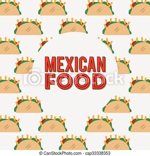 mexican food design  - csp33338353