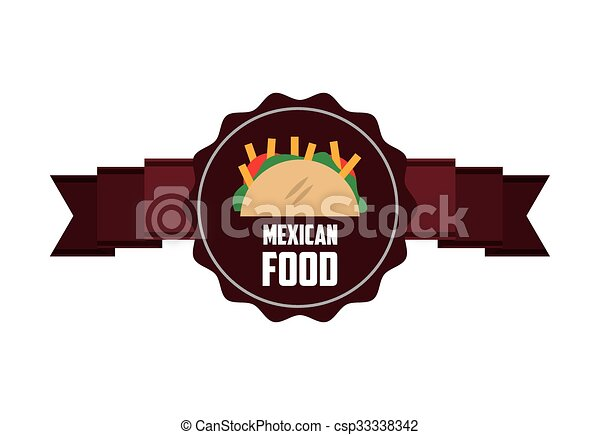 mexican food design  - csp33338342