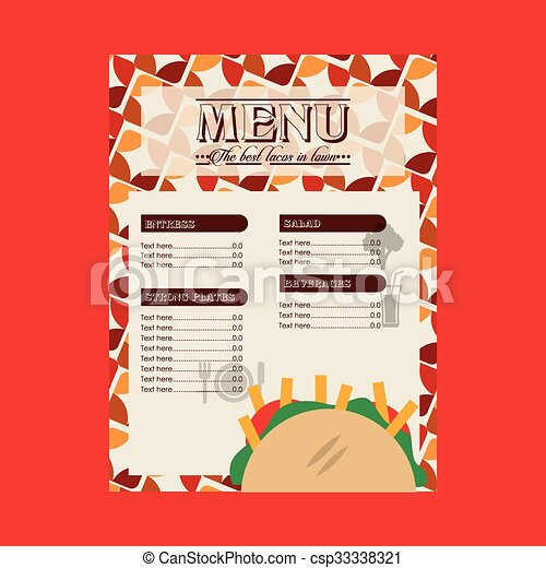 mexican food design  - csp33338321