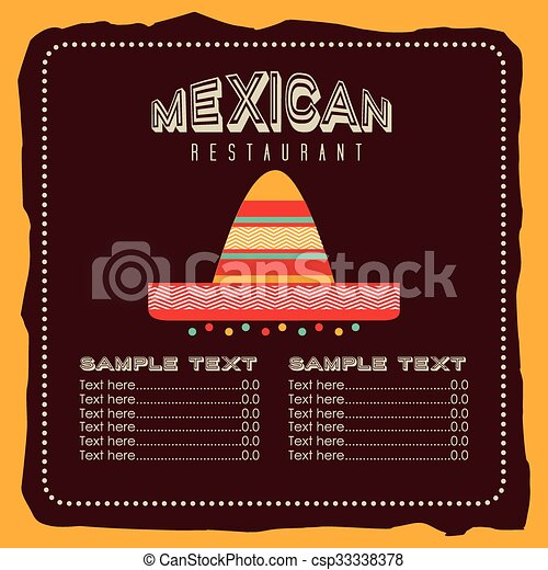 mexican food design  - csp33338378