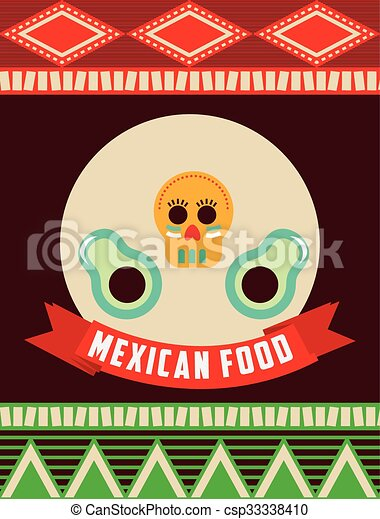 mexican food design  - csp33338410