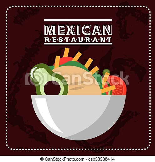 mexican food design  - csp33338414