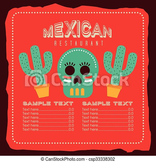 mexican food design  - csp33338302