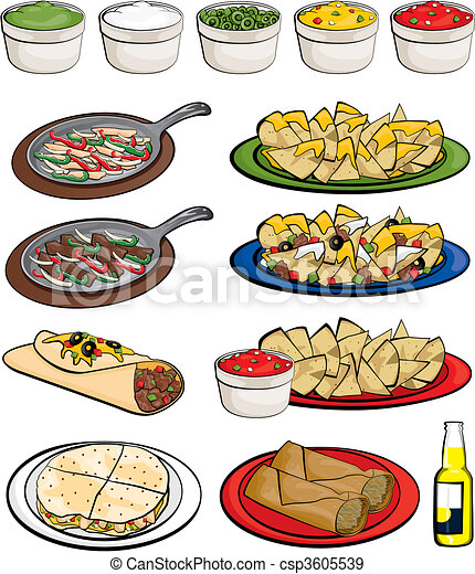 mexican food eps vectors - search clip art, illustration, drawings
