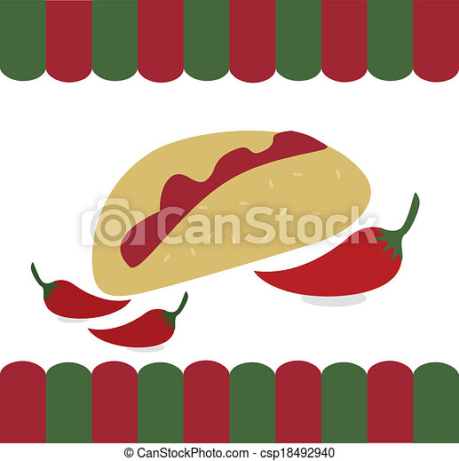 mexican food  - csp18492940