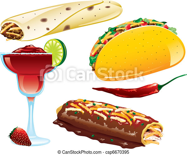 mexican food icons illustrations of different mexican food icons rh canstockphoto com mexican food clipart free free mexican food clipart images