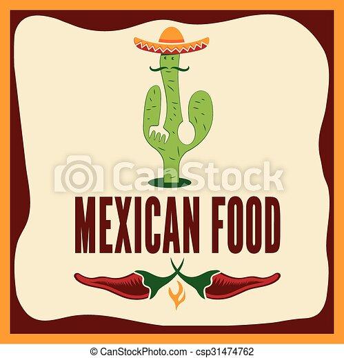 mexican food illustration - csp31474762