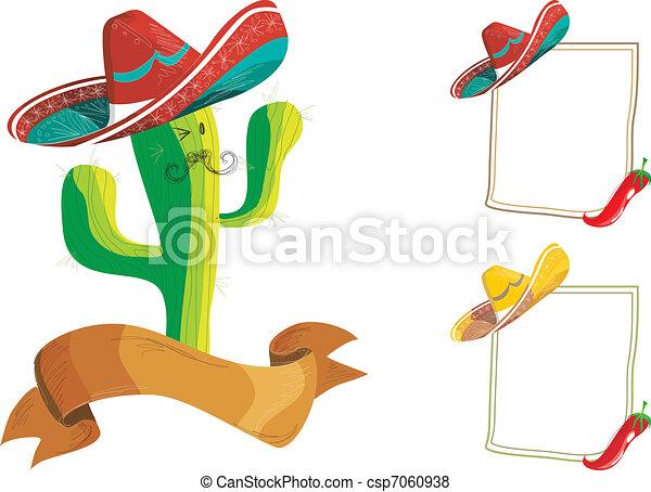 Mexican food menu design set - csp7060938