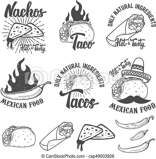 Mexican Food Clip Art Black And White | www.pixshark.com ...