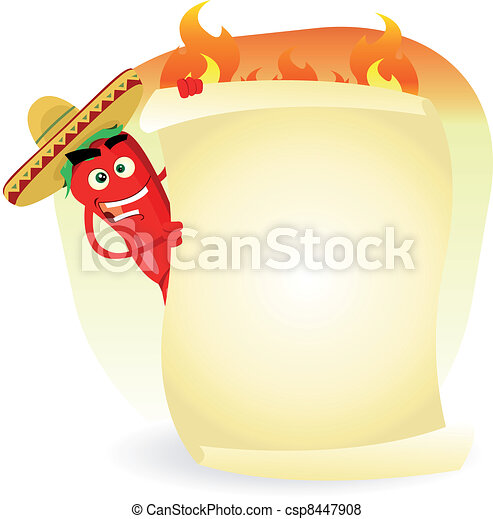 Mexican Food Restaurant Spice Banner - csp8447908