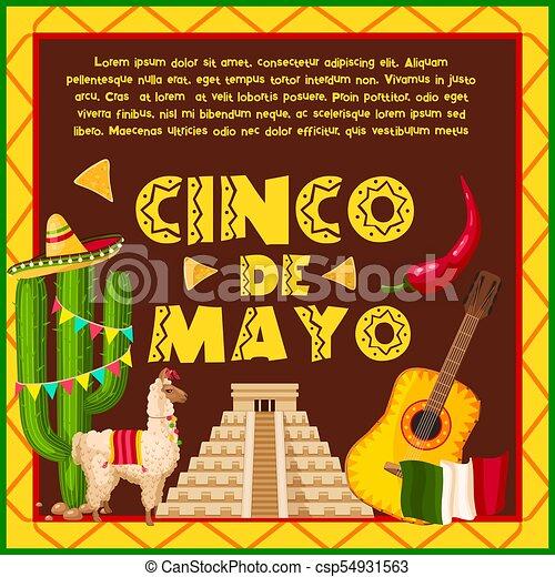 Mexican holiday card for cinco de mayo design mexican holiday mexican holiday card for cinco de mayo design csp54931563 m4hsunfo