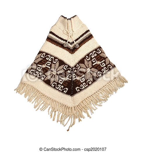 Mexican knitted poncho - csp2020107