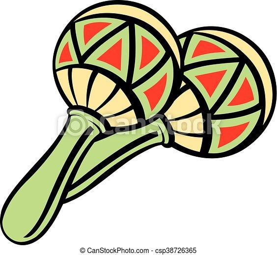 mexican maracas vector illustration of mexican maracas clip art rh canstockphoto com mexican maracas clipart mexican maracas clipart