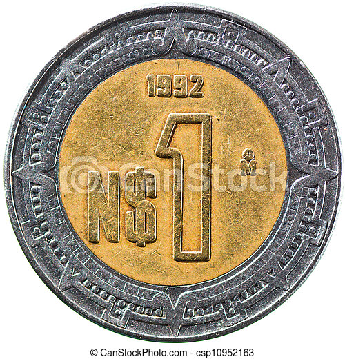 Mexican New Peso, 1 Peso 1992 - csp10952163