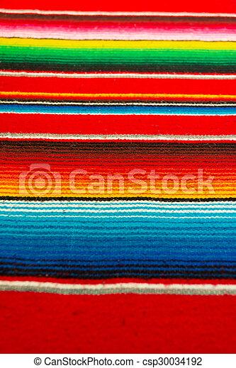 Mexican Poncho - csp30034192