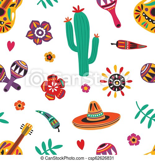 Mexican seamless pattern with traditional mariachi sombrero c8b2d129d22