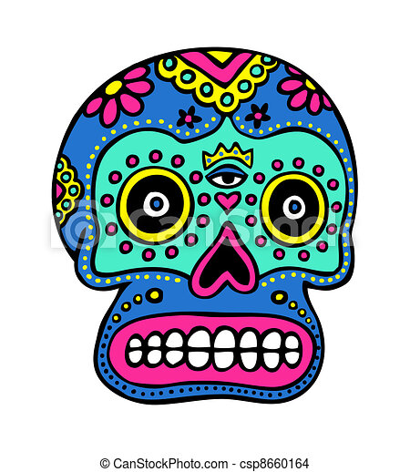 mexican skull art day of the dead sugar skull drawing search clip rh canstockphoto com day of the dead clipart black and white day of the dead clip art borders