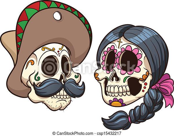 Mexican Skulls - csp15432217