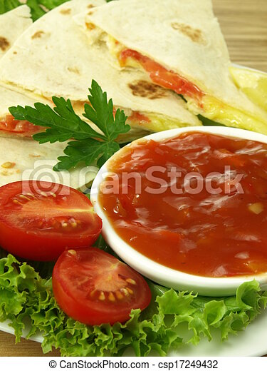 Mexican snack, closeup - csp17249432