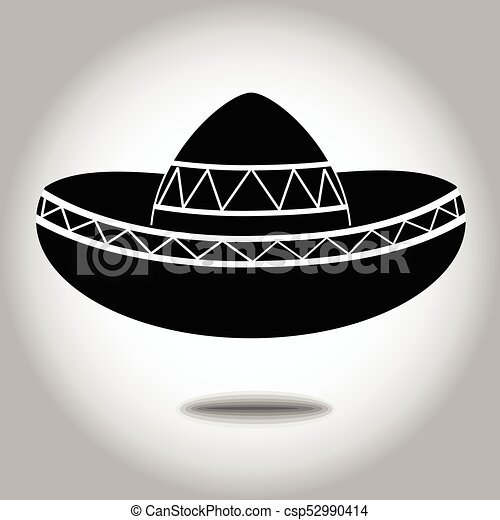 Sombrero Clipart Eps - Mexican Sombrero Black And White Png Transparent PNG  - 980x668 - Free Download on NicePNG