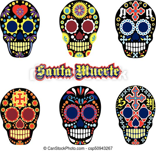 holy death day of the dead mexican sugar skull clip art vector rh canstockphoto com day of the dead clip art borders day of the dead clip art borders
