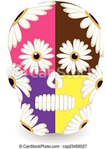 Mexican sugar skull - csp23456527