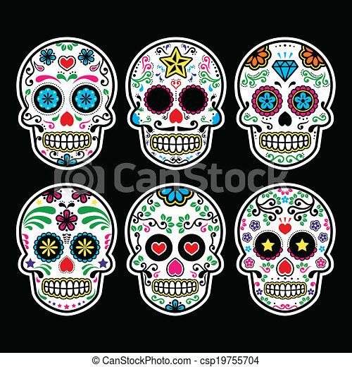 Mexican sugar skull - csp19755704