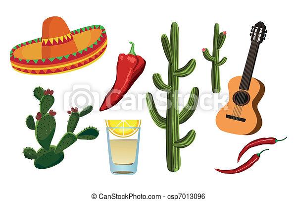 Mexican Symbols - csp7013096